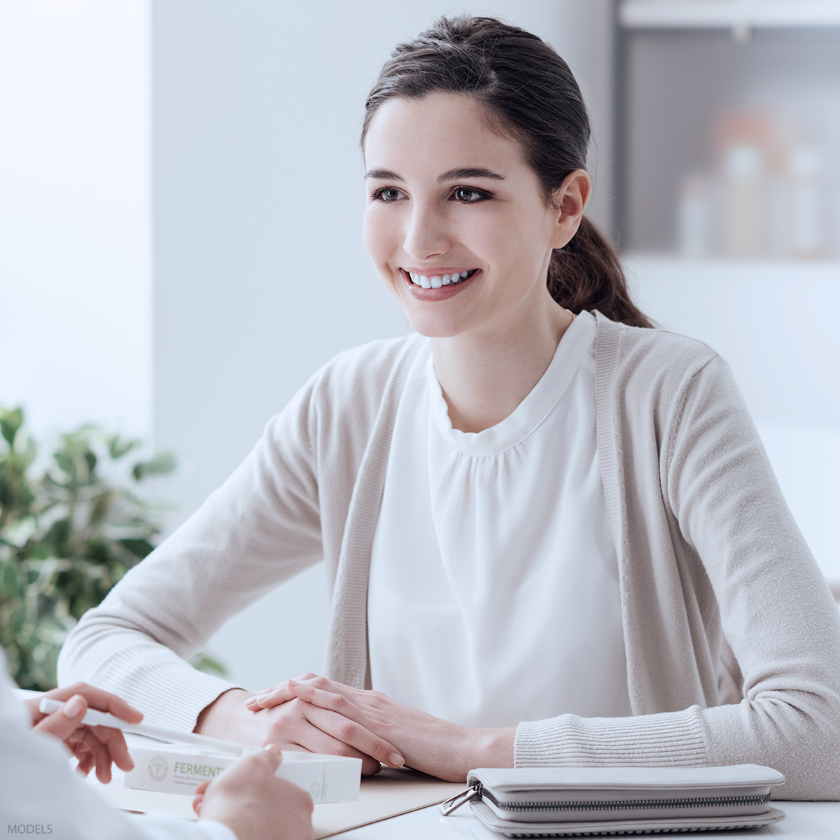 Woman at a consultation